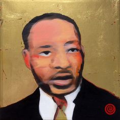 """For Sale: MLK No1 by Antti Eklund   $500   12""""w 12""""h   Original Art   https://www.vangoart.co/antti-eklund/mlk-no1 @VangoArt"""