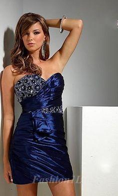 Sheath Taffeta Sweetheart Short Dress fashion01828