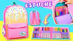 DIY Estuche MOCHILA HELADO🍦 MINI MALETA Episodio #2 para el regreso a cl... Crayon Crafts, Cardboard Crafts, Paper Crafts, Diy Crafts For School, Diy Back To School, Cardboard Organizer, Figet Toys, Mini Mochila, Slime And Squishy