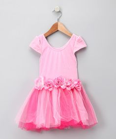Take a look at this Pink Rosette Princess Dress - Girls by Princess Expressions on #zulily today!