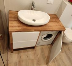 Modern Small Bathrooms, Outdoor Bathrooms, Tiny Bathrooms, Upstairs Bathrooms, Modern Bathroom Decor, Bathroom Styling, Laundry Room Design, Home Room Design, Home Interior Design