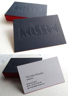 black white blind deboss business card Business Card Maker, Minimal Business Card, Black Business Card, Unique Business Cards, Professional Business Cards, Corporate Design, Business Card Design, Web Design, Logo Design