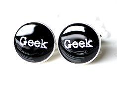 Geek Cufflinks - cool geeky modern gift for men, husband or boss