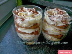 Ekspresowe Tiramisu - Swiatciast.pl Tiramisu, Cute Desserts, Polish Recipes, Love Cake, Mousse, Food And Drink, Pudding, Sweets, Baking