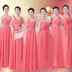 Find More Information about Coral Bridesmaid Dress Long Chiffon 6 Different Styles Custom Made Vestidos De Formatura Cheap Bridesmaid Dress Under $50,High Quality dress old,China dress formal dress Suppliers, Cheap dress unicorn from Princess Sally International Co.,Ltd. on Aliexpress.com