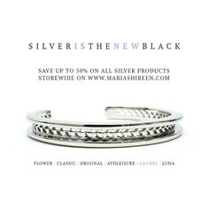 #BlackFriday savings! Through 11/25, save up to 50% on all silver stainless products site wide including forever lipstick! mariashireen.com #MariaShireen #FreeTheWrist #Savings #HolidaySale #lipstick #Thanksgiving #Bracelet