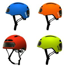 coolest bike helmets for kids: the Torch T2 helmet with headlights and brake lights - whoa!