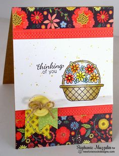 Handmade Creations by Stephanie: Inky Paws Challenge Basket of Wishes stamp set by Newton's Nook Designs!