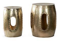 Brass Iron Round Tables, Set of 2 on OneKingsLane.com. $200.