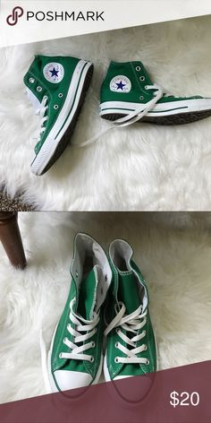 Hi Top green converse. New without box. Women's 7 Men's 5 Converse Shoes Sneakers