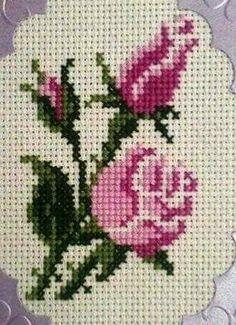 The most beautiful cross-stitch pattern - Knitting, Crochet Love Cross Stitch Borders, Cross Stitch Rose, Cross Stitch Flowers, Modern Cross Stitch, Cross Stitch Designs, Cross Stitching, Cross Stitch Embroidery, Cross Stitch Patterns, Cute Sticker