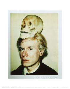 Self-Portrait with Skull, c.1977 Kunstdruk