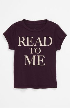 Peek 'Little Peanut - Read to Me' T-Shirt (Infant) available at Nordstrom