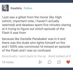 LOL whoops. -- sky high is getting a lot of popularity lately. Where was this when it was all I wanted to talk about in fifth grade and no one had a clue? Why is this popping up right now? Did one really popular sky high post trigger everyone's memory and now we're all talking about it again?