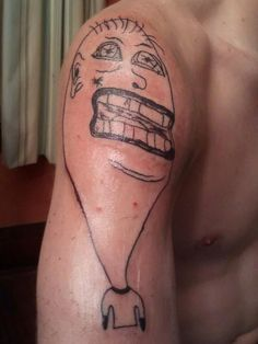 Check out my tattoo, dude did it for real cheap too : shittytattoos Bad Tattoos, R Tattoo, Cool Tattoos, Check, Pictures, God Tattoos, Photos, Coolest Tattoo