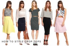 how to style crop tops http://blog.letote.com/2014/07/08/how-to-style-crop-tops/