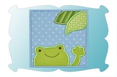 FREE Frog Patch Applique - DigiStitches Machine Embroidery Designs