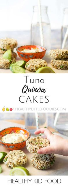 These tuna quinoa cakes are great as part of a main meal or can be popped into the lunch box the next day. #kidsfood #blw #babyledweaning #Glutenfree. #Dairyfree. #lunchbox via @hlittlefoodies Fish Recipes For Kids, Healthy Meals For Kids, Healthy Foods To Eat, Baby Food Recipes, Kids Meals, Healthy Snacks, Healthy Eating, Healthy Recipes, Toddler Recipes