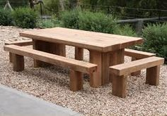 Image result for bench made from railway sleepers