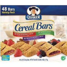 Quaker Cereal Bars Variety Pack 48 OZ each Breakfast Bars Healthy, Healthy Snack Bars, Breakfast Snacks, Fruit Cereal, Granola Cereal, Cereal Bars, Mixed Berry Crisp, Gourmet Recipes, Snack Recipes
