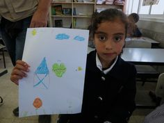Houses, oranges, checkpoints, guns – kids draw life in Palestine  