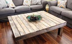 Une table basse en palette, simple et épurée