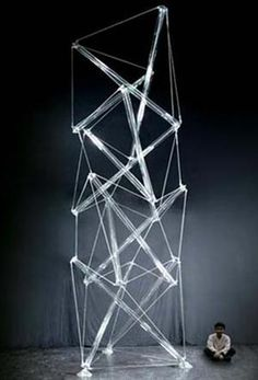 Tensegrity Glass Sculpture