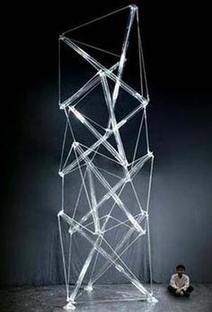 Tensegrity Glass Sculpture