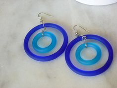 Grab the glass ring    Mod Large hoop Glass by EllensEclectics, $8.00