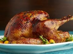 Roasted Turkey with Bourbon-Butter Glaze