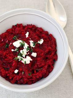 Rode bieten risotto met geitenkaas