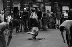 Breakdancer performing a headspin in Amsterdam Hip Hop, Wrestling, Dance, Black And White, Amsterdam, Sports, Boards, Photography, Fictional Characters