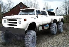 Custom VANS natural BABES & other bad ass transportation. Redneck Trucks, Old Dodge Trucks, Dodge Pickup, Jacked Up Trucks, Cool Trucks, Big Trucks, Pickup Trucks, Lifted Cars, Pick Up