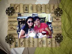 Wine cork picture frame