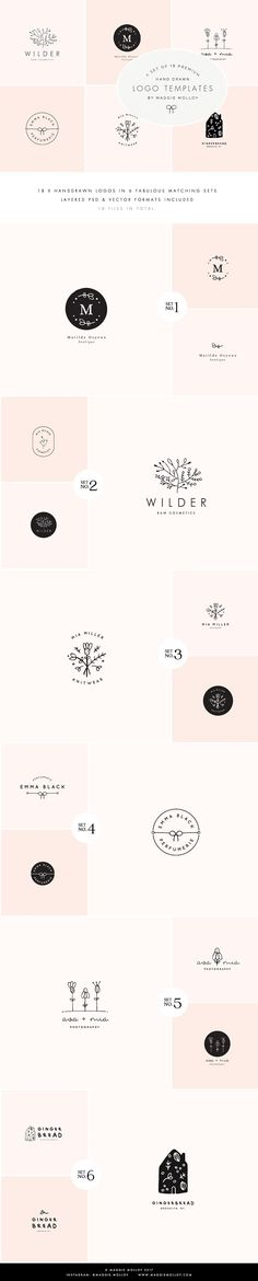 Feminine Premade Logo Bundle by Maggie Molloy on @creativemarket. $1800 worth of luxury branding for the teeny tiny price of $15! xx