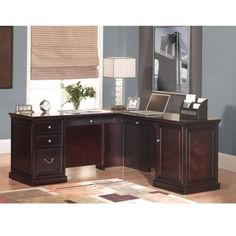 Fulton Compact L-Desk with Right Return
