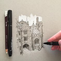 "2,175 Likes, 24 Comments - Phoebe Atkey (@phoebeatkey) on Instagram: ""A quick little sketch #art #drawing #pen #sketch #illustration #linedrawing #architecture #building…"""