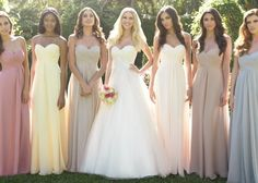 bridesmaid dresses from Chantilly and Lace