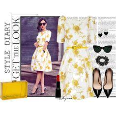 """'Vintage 50's Style Dress'"" by ladyjaynne on Polyvore"