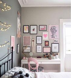 Bedroom decor, fairylights bedroom, home decor bedroom, nursery decor, ki. Apartment Bedroom Decor, Room Ideas Bedroom, Small Room Bedroom, Bedroom Wall, Bedroom Decor On A Budget, Diy Bedroom, Bed Room, Study Room Decor, Teen Wall Decor