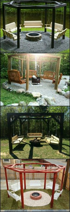 Backyard swings | Fire Pits | Outdoor living areas | Creative Environments