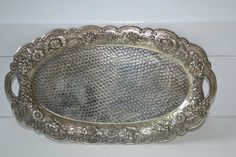Vintage Metal Flower Tray on Etsy, $14.95