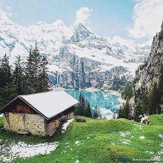 Oeschinensee, Kandersteg, Switzerland