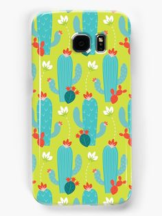 Desert cacti in riotous bloom. • Also buy this artwork on phone cases, home decor, stationery, and more.