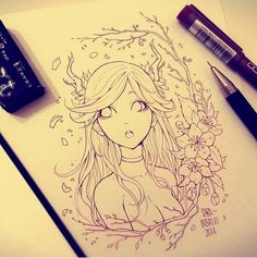 40 Amazing Anime Drawings And Manga Faces - Bored Art