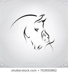 Portfolio of nutriaaa on Shutterstock - silhouette of the girl and the horse . - Portfolio of nutriaaa on Shutterstock – silhouette of the girl and the horse – - Horse Drawings, Animal Drawings, Tattoo Drawings, Art Drawings, Drawing Drawing, Sketch Tattoo, Silhouette Girl, Horse Tattoo Design, Tattoo Horse