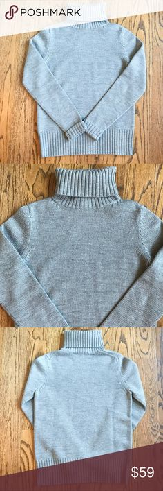 Theory Grey-Blue Turtleneck Sweater Cozy wool Theory turtleneck sweater perfect for the fall and winter. In perfect condition, only worn a few times. Theory Sweaters Cowl & Turtlenecks