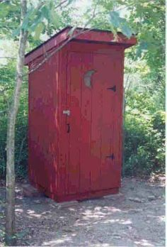 we had a honey pail inside, even before we had waterworks, but I remember lots of outhouses in town