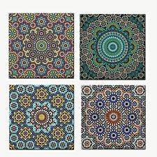 NEW Moroccan Pattern Ceramic Tile / Kitchen Coaster / Feature Tile / Wall Art