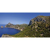 Artland Echt-Glas-Wandbild Deco Glass Andrea Potratz Mallorcas Küsten Landschaften Europa Spanien Fotografie Blau 30 x 60 x 1,1 cm